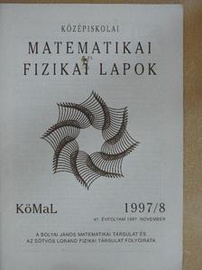 Csaba György Gábor - Középiskolai Matematikai és Fizikai Lapok 1997. november [antikvár]