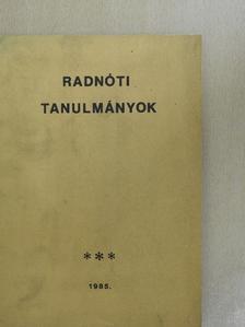 Alföldy Jenő - Radnóti tanulmányok [antikvár]