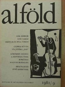 Ablonczy László - Alföld 1981/9. [antikvár]