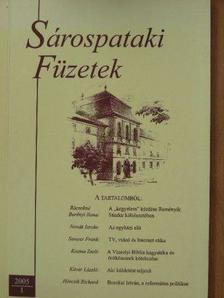 Csohány János - Sárospataki Füzetek 2005/1. [antikvár]