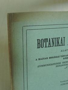 Hortobágyi Tibor - Botanikai közlemények 1971/1. [antikvár]