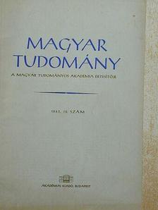 Bod Péter - Magyar Tudomány 1963. október [antikvár]