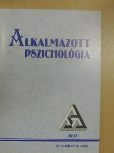 Balogh László - Alkalmazott Pszichológia 2002/4. [antikvár]