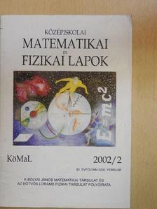 Fried Ervin - Középiskolai matematikai és fizikai lapok 2002. február [antikvár]