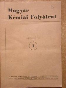 Flóra Teréz - Magyar Kémiai Folyóirat 1969. január-december [antikvár]