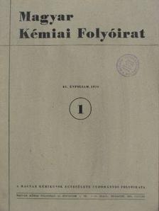 Almássy Gyula - Magyar Kémiai Folyóirat 1959. január-december  [antikvár]