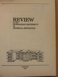 Aján Tamás - Review of the Hungarian University of Physical Education 1988. [antikvár]