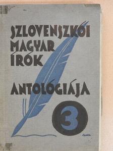 Alois Jirásek - Szlovenszkói magyar írók antológiája 3. [antikvár]