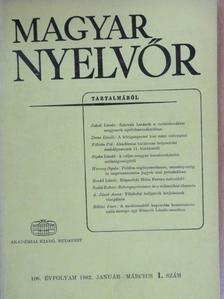 A. Jászó Anna - Magyar Nyelvőr 1982. január-március [antikvár]