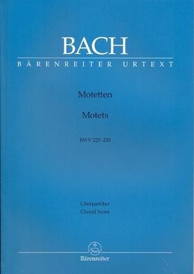 J. S. Bach - MOTETTEN BWV 225-230 CHORPARTITUR URTEXT (KONRAD AMELN)