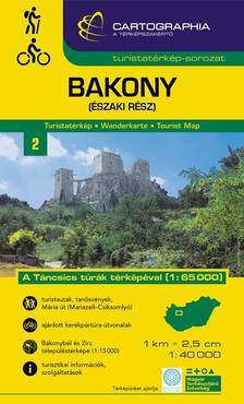 """Cartographia Kiadó - BAKONY (ÉSZAKI RÉSZ) TURISTATÉRKÉP - """"SC"""" -"""
