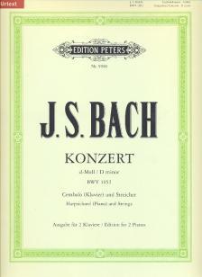 J. S. Bach - KONZERT d-moll BWV 1052 FÜR CEMBALO (KLAVIER) & STREICHER, KLAVIERAUSZUG