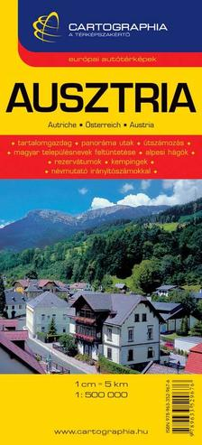 """Cartographia - AUSZTRIA AUTÓTÉRKÉPE - CART. - 1:500.000 - """"SC"""""""