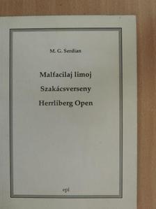 Serdián Miklós György - Malfacilaj limoj/Szakácsverseny/Herrliberg Open [antikvár]