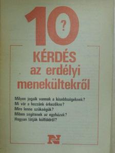 Ács Zoltán - 10 kérdés az erdélyi menekültekről [antikvár]