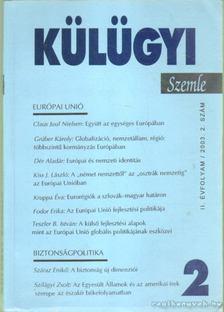Kiss J. László - Külügyi szemle II. évf.  2003. 2. [antikvár]