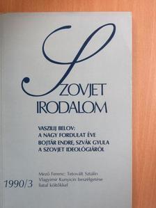 Alekszej Barhatov - Szovjet Irodalom 1990/3. [antikvár]