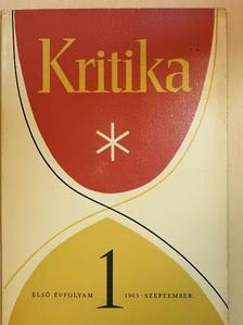 Bodnár György - Kritika 1963. szeptember [antikvár]