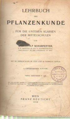 Dr. Scharfetter, Rudolf - Lehrbuch der Pflanzenkunde [antikvár]