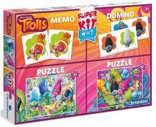 Clementoni Puzzle 2x30 Trollok + Memória + Dominó