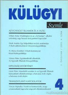 Kiss J. László - Külügyi szemle II. évf.  2003. 4. [antikvár]