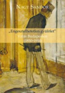 """Nagy Sándor - """"Engesztelhetetlen gyűlölet"""" - Válás Budapesten (1850-1914)"""