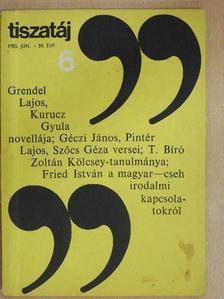 Fried István - Tiszatáj 1985. június [antikvár]