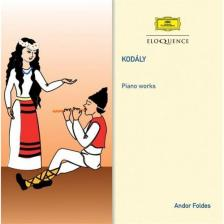 Kodály Zoltán - PIANO WORKS CD FÖLDES ANDOR
