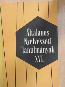 Albert Sándor - Általános Nyelvészeti Tanulmányok XVI. [antikvár]