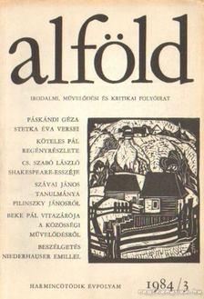 Juhász Béla - Alföld 1984/3. [antikvár]