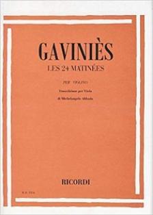 GAVINIÉS,PIERRE - LES 24 MATINÉES PER VIOLINO,TRANSCR. PER VIOLA (ABBADO,MICHELANGELO)