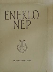 Boros Rezső - Éneklő nép 1949. március [antikvár]