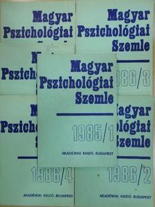 Ash Mitchell G. - Magyar Pszichológiai Szemle 1985/1-6. [antikvár]