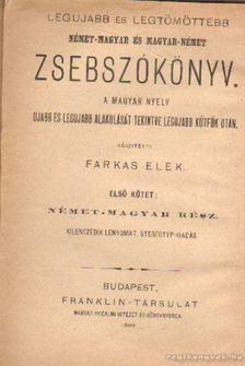 Farkas Elek - Német-magyar és magyar-német zsebszókönyv [antikvár]