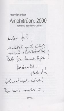 Horváth Péter, Pozsgai Zsolt - Aquincumi drámaíró verseny (Dedikált) [antikvár]