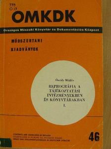 Ónódy Miklós - Reprográfia a tájékoztatási intézményekben és könyvtárakban I. [antikvár]
