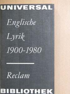 Craig Raine - Englische Lyrik 1900-1980 [antikvár]