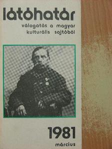 Beke György - Látóhatár 1981. március [antikvár]