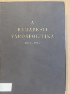 Kiss György - A budapesti várospolitika [antikvár]