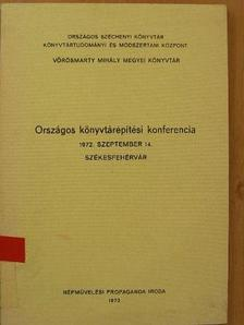 Békés György - Országos könyvtárépítési konferencia [antikvár]