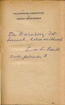 Lessing, Gotthold Ephraim - Bölcs Náthán (dedikált) [antikvár]