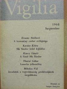 Boda László - Vigilia 1968. szeptember [antikvár]