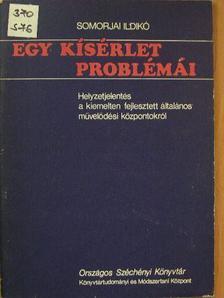 Somorjai Ildikó - Egy kísérlet problémái [antikvár]
