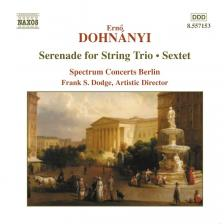 DOHNÁNYI - SERENADE FOR STRING TRIO, SEXTET CD DODGE, SPECTRUM CONCERTS BERLIN