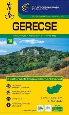 """Cartographia Kiadó - GERECSE TURISTATÉRKÉP 10. 1:40000 CART. """"SC"""""""