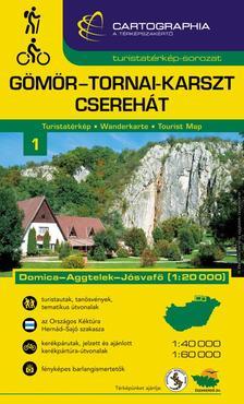 """Cartographia Kiadó - Gömör-Tornai-karszt és Cserehát turistatérkép 1. 1:40000 """"SC"""""""