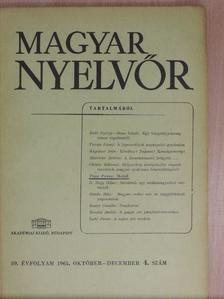 Grétsy László - Magyar Nyelvőr 1965. október-december [antikvár]