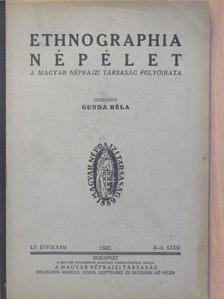 Fél Edit - Ethnographia - Népélet 1941/3-4. [antikvár]