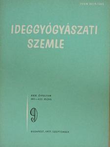 Dr. Balázsi Imre - Ideggyógyászati Szemle 1977. szeptember [antikvár]
