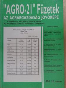 """Bitay Zoltán - """"AGRO-21"""" Füzetek 1998/20. [antikvár]"""